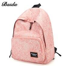 High School Fashion Printing Backpacks Women Canvas Print Backpack Bag for Girl Mochilas Para Meninas Adolescents