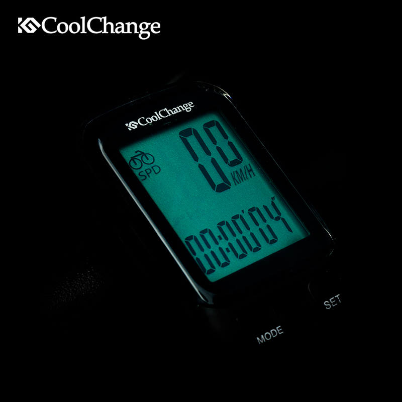 CoolChange Bicycle Computer Multifunction Wireless Waterproof Bike Computer Speedometer Cycling Odometer with LCD Backligh