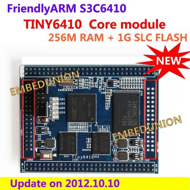 все цены на FriendlyARM S3C6410 ARM11 Core Module Stamp,TINY6410, 256M RAM+1G SLC Nand Flash, ARM Development Board онлайн