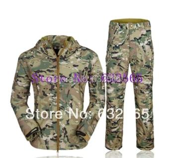 TAD V 4.0 Men Outdoor Hunting Camping Waterproof Windproof  Coats Jacket Hoody TAD softshell Jacket+Pants Suit