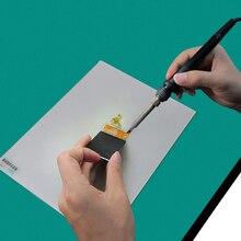 DIYFIX Aislamiento Térmico Almohadilla de Silicona Mantenimiento Plataforma de Reparación de BGA Soldadura Estación de Pistola Caliente Pareja 35×24 cm