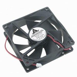 Image 5 - DC12V 24 V 48 V 2pin 9225 9 cm 90mm 92*92*25 double roulement à billes silencieux ventilateur de refroidissement sans brosse