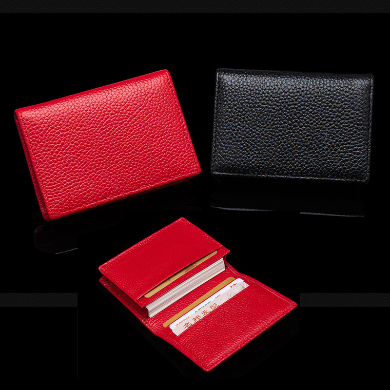 100% Genuine Leather Business Name Card Case Horizontal Card ID Holder Cross Crocodile Saffiano Bank Card Cover Custom Name Logo