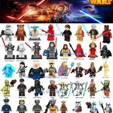 Звездные войны Люк Лея Звездные войны Дарт Вейдер мол ситх мальгус Хан Solo Jawas C3po Ewok йода Рей строительные блоки игрушки для детей