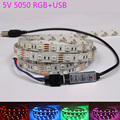 50CM 1M 2M USB LED Strip Light 5V 5050 SMD IP65/non Waterproof RGB leds tape ribbon lamp Flexible TV Background Lighting