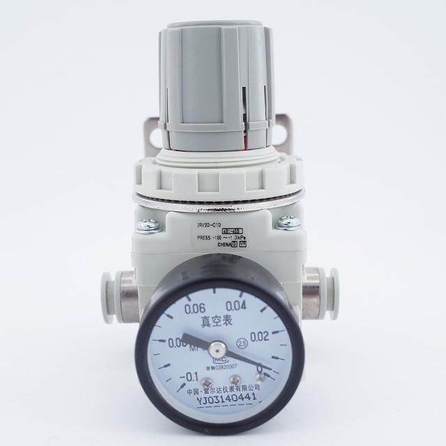 Áp suất âm hút chân không điều chỉnh IRV10/20 Thẳng/Khuỷu Tay phụ kiện có đồng hồ Áp Suất/Kỹ Thuật Số Công tắc áp lực điều chỉnh