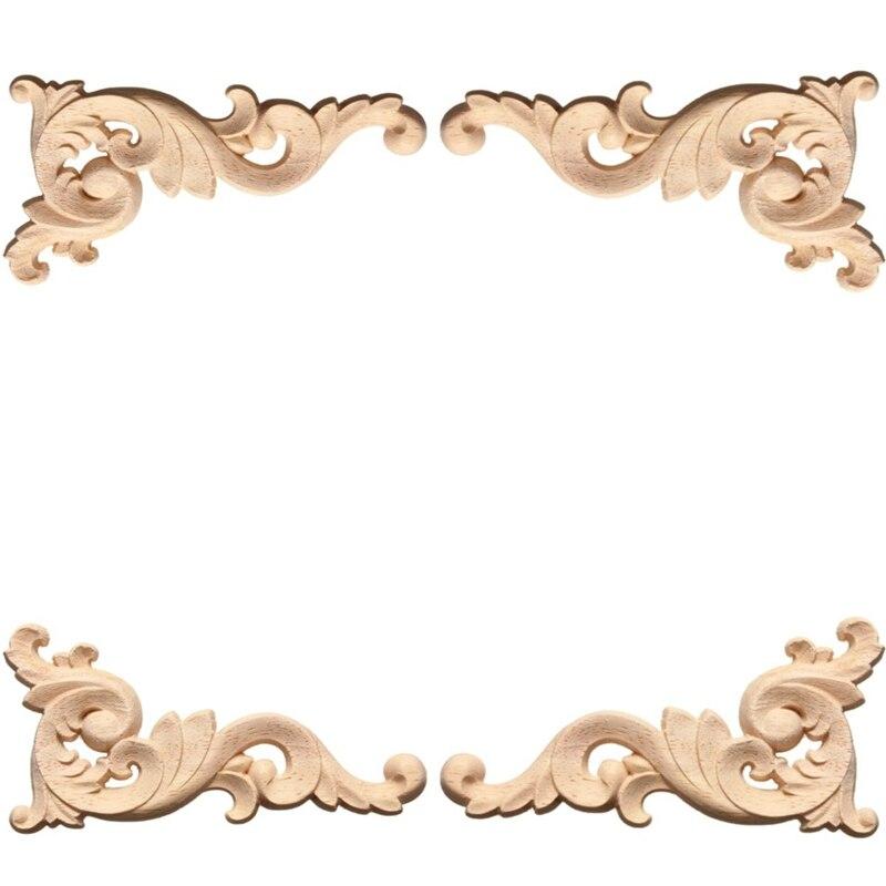 Exceptionnel Online Shop Vintage 1pc Wood Carved Corner Onlay Applique Frame Door  Decorate Wall Doors Furniture Decorative Figurines Wooden Miniatures |  Aliexpress ...