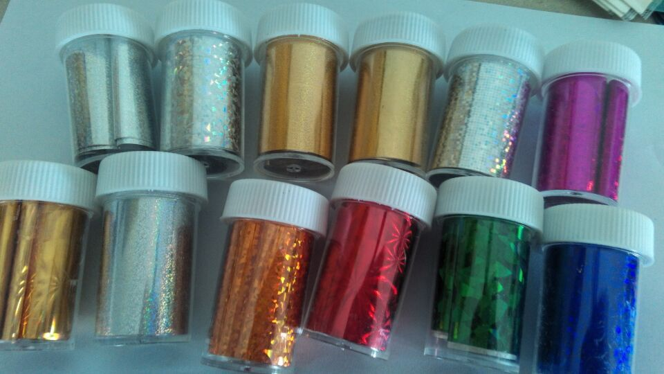 120*4CM Silver&Gold Fashion 12PCSLot Nail Art Transfer Foils Decoration Gold Color Stylish Decals Nail Tools Cheap Nail