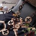 Мода макси ожерелье colar feminino панк ювелирные изделия акриловые etnicos длинные крест кулон для женщин заявление колье collares mujer