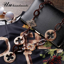 Moda maxi collar colar feminino etnicos larga cruz colgante para las mujeres joyería punky de acrílico collares declaración collier mujer