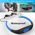 DHL 8 GB Impermeabilizan MP3 Music Player Submarino Swiming Surf Buceo Deportes Neckband Auricular Estéreo Headset Manos Libres Radio FM