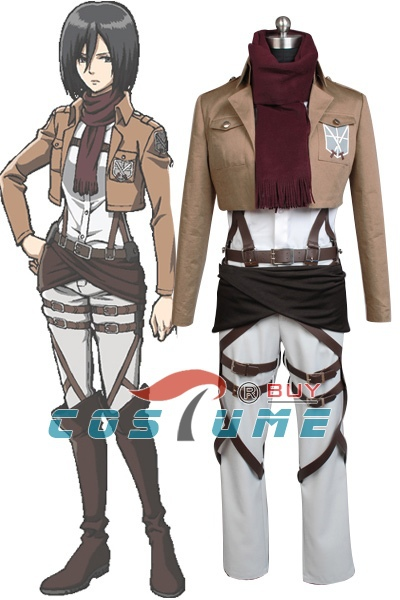 Anime Attack on Titan Shingeki no Kyojin Ackerman Cosplay Costume Jacket Hoodie