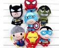 2017 boneca de pelúcia the avengers super hero spiderman & superman & batman & captainamerica & ironman action figure gift collection brinquedos do miúdo