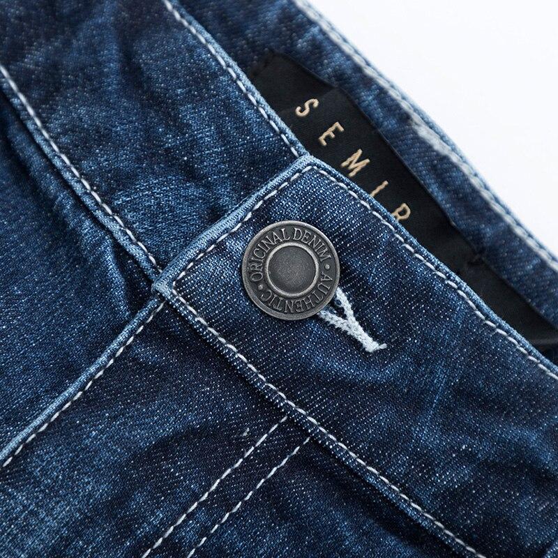 SEMIR Skinny Jeans Soft Cotton for Men Slim Jeans with Destructed Detail Elastic Pencil Pants Fashion Jeans Trousers