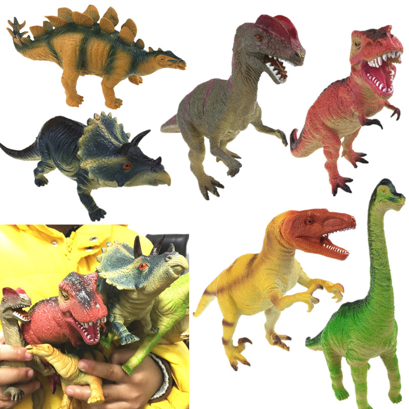 6 Styles Big Size Dinosaur Toys Model Kid Chirstmas gift Action Figure Model Dinosaur Toy Can make a sound Figure Model Toy