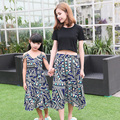 New Family Matching Outfit Beach Family Set Chiffon Mother Daughter Dress Mom and Daughter Dresses Clothes Family Clothing WL69