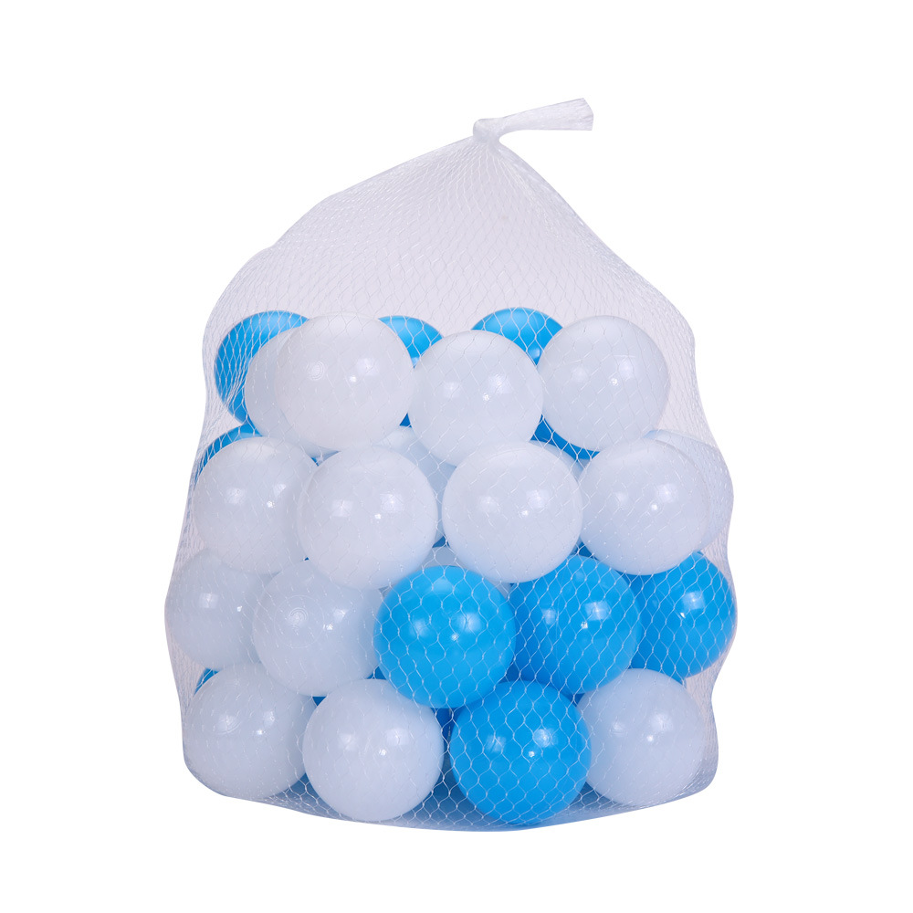 100pcs/lot Eco-Friendly Blue + White Soft Plastic Water Pool Ocean Wave Ball Baby Funny Toys Stress Air Ball Outdoor Fun Sports