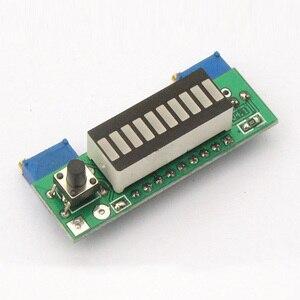 Image 3 - Kits electrónicos de bricolaje LM3914 12V 3,7 V módulo indicador de capacidad de batería de litio verde pantalla LED de 10 segmentos probador de nivel de potencia