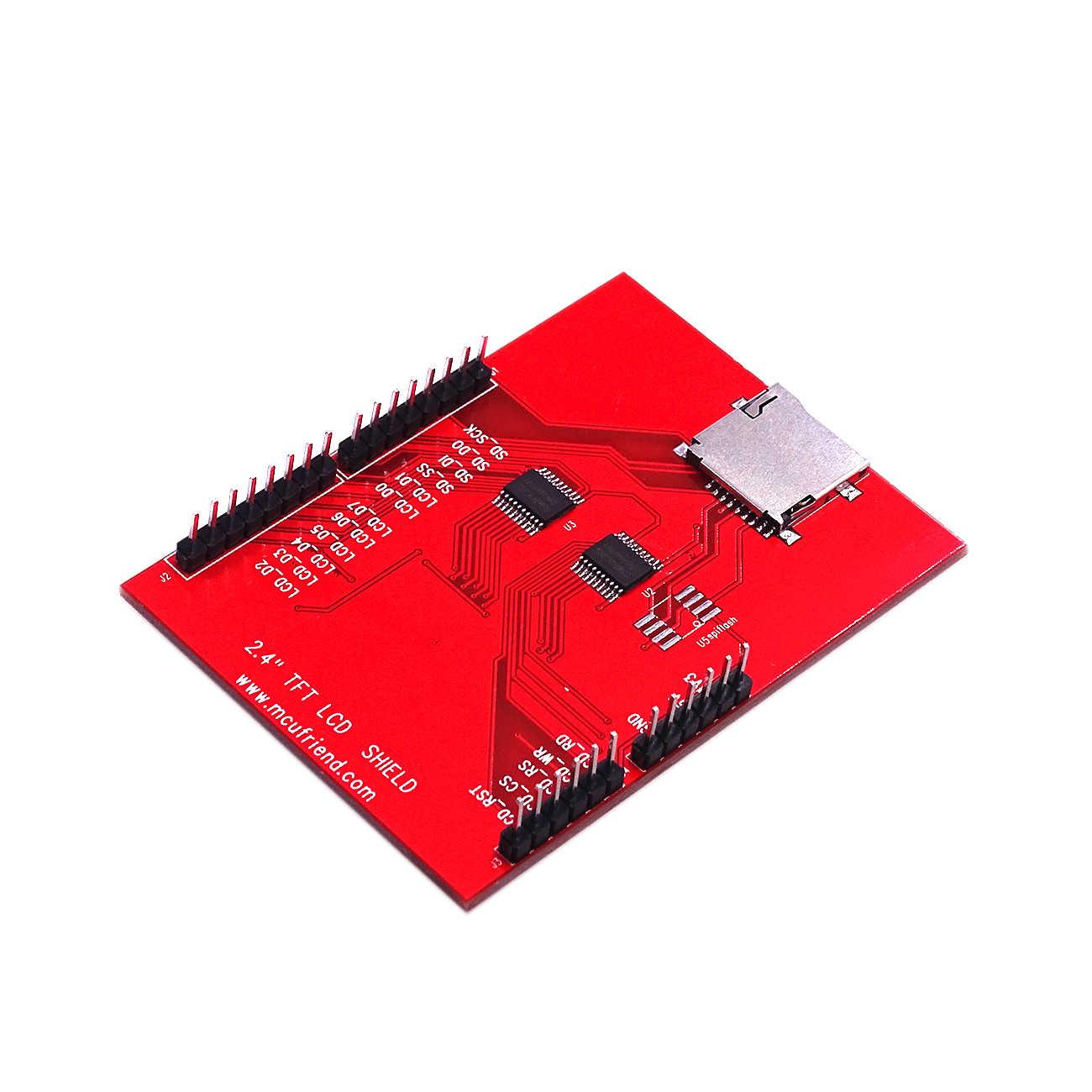 Nouveau TFT 2.4 pouces TFT LCD écran pour carte Arduino UNO R3 et support mega 2560 avec stylo tactile gif
