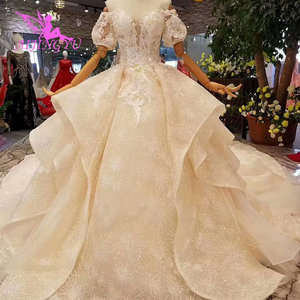 Image 5 - AIJINGYU Wedding Luxury Gowns Netherlands Sexy Under 500 Gown Buttons Long Sleeve Wedding Dress Lace