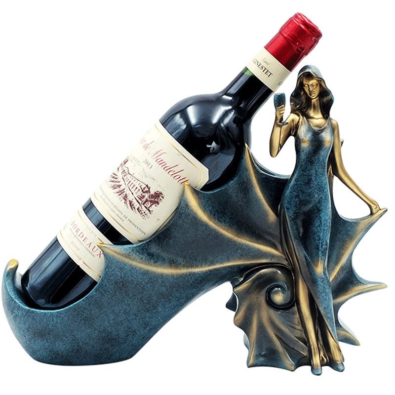 Support de bouteille de vin créatif Bar tête de cheval conque support de support de vin affichage décoration de mariage à la maison artisanat intérieur cadeau de noël H1221-in Casier à vin from Maison & Animalerie    1