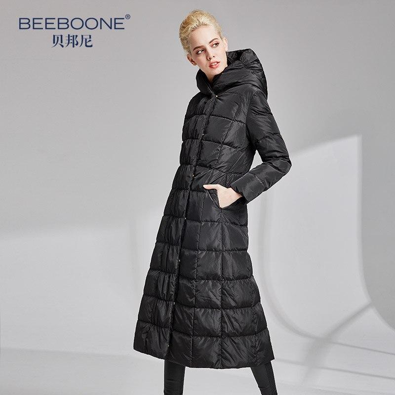 BEEBOONE2019 autunno e inverno nuovo lungo di spessore giù donne giacca di contatori di marca autentica