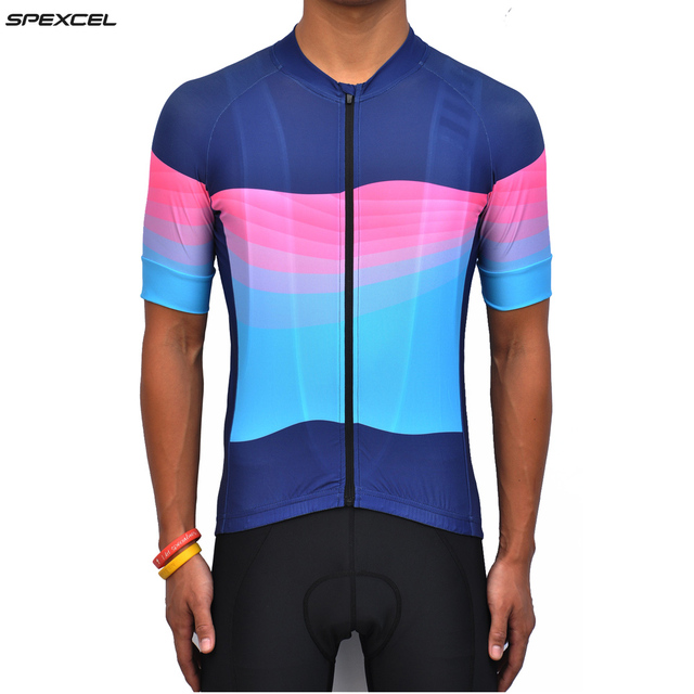 Spexcel high quality color wave short sleeve cycling jersey Tight fit  jerseys Ropa Ciclismo cool bicycle clothing free shipping 0b776f417
