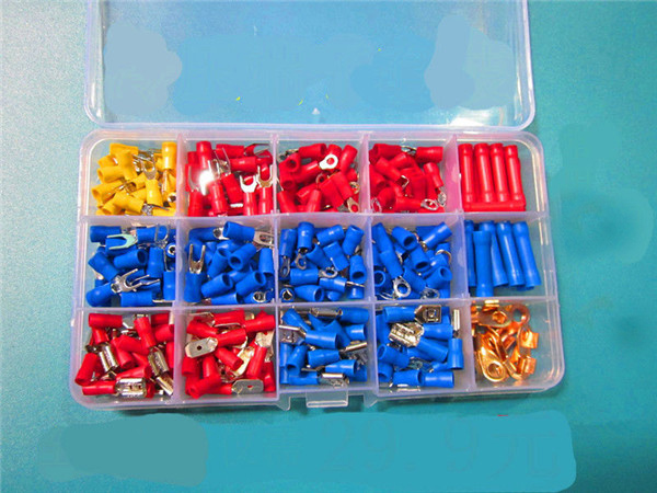1set= 240pcs  Insulated Crimp Terminals Wire Connectors Butt Spade Ring Assorted Kit free shipping custom murals worn coloured wood wall mural bedroom living room tv backdrop wallpaper