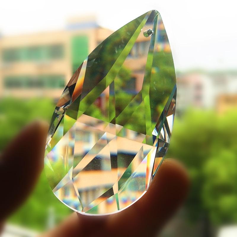 30pcs 63mm Angle Tear Drop Transparent K9 Crystal Chandelier Pendants Shiny Suncatchers Christmas Tree Decoration Accessories