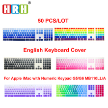 High Quality Multi Color Ultra Thin Silicone US Keyboard Skin Cover With A Numeric Keypad For Apple For iMac Free Shipping цена в Москве и Питере