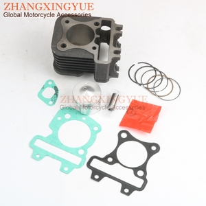 70cc Big Bore Cylinder Kit & Piston Kit & Cylinder Gasket for Piaggio Liberty 50 Zip 2 50 Fly 50cc AC 47mm/13mm 4-stroke(China)