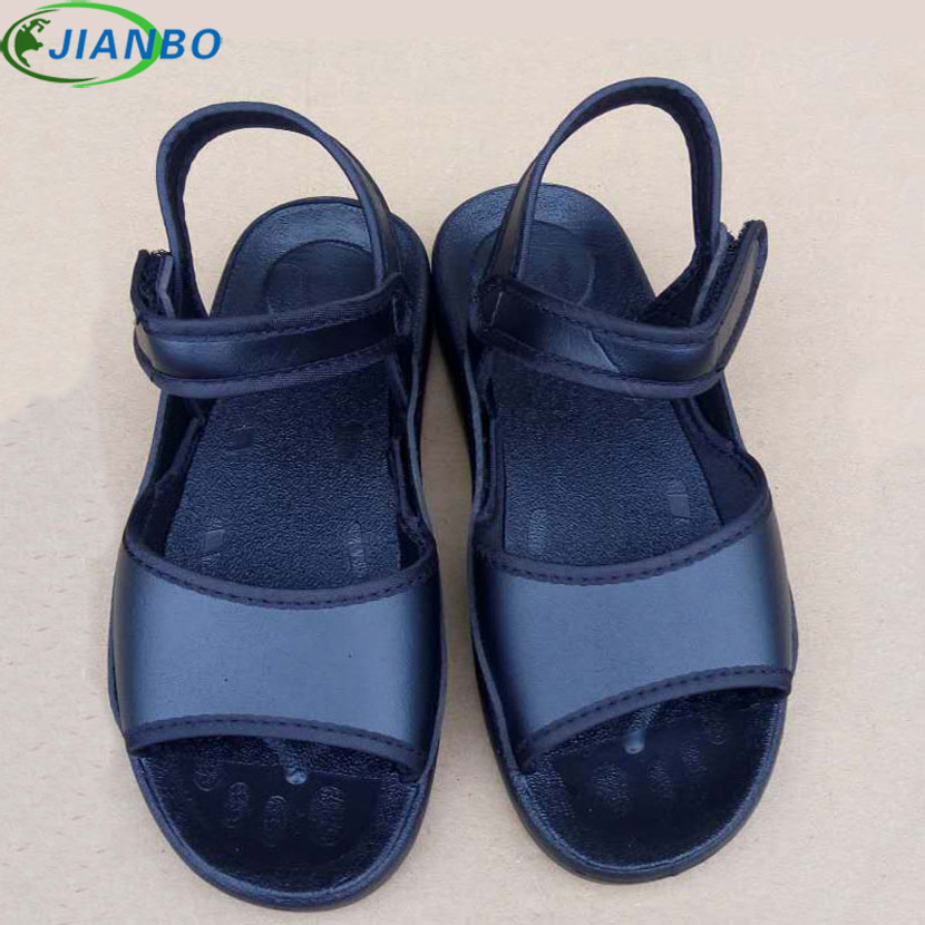 2018 Hot Selling Summer Fashion Safety Shoes Women Beach Sandals Black Dustless Workshop Work Shoes PU Antistatic Sandals 38-46 anmairon shallow leisure striped sandals women flats shoes new big size34 43 pu free shipping fashion hot sale platform sandals