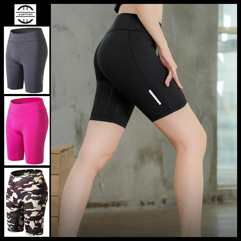 200p Women&Girls Shapers Exercise 3D Tight Fitness Knee Length Pants Quick-dry Wicking High Elastic Camo Compression Half Pants