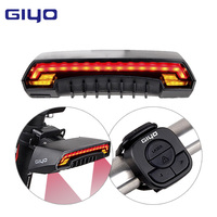 GIYO Bicycle LED Light Bike Seatpost Tail Lamp Wireless MTB Safety Warning Bicycle Rear Light Intelligent Remote Control Light