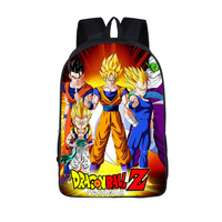 Anime Dragon Ball Backpack Boys Girls School Bags Super Saiyan Sun Goku Backpack For Teenagers Kids