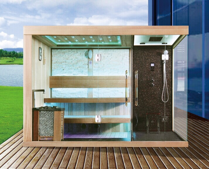 Luxury Outdoor Steam Sauna Room With Shower Sa030