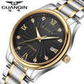 Luminosa GUANQIN Homens Relógios Mecânicos Relógio de Safira À Prova D' Água Casual Famosa Marca Assistiu Homens Moda de Luxo Relógios Relógio
