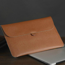 """11.6″ 13.three"""" 15.four"""" Extremely-thin Moveable Laptop computer Bag for Macbook air professional retina Style PU Pocket book Liner Sleeve Pouch Feb17"""