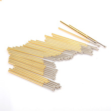 цена на P100-E2 Spring Test Probes Pogo Pins Test of Circuit Boards Nickel Plated Needle Head Dia 1.5mm For Testing Tools Length 33.35mm