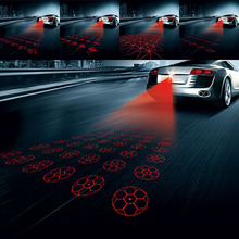 Car Anti-collision Laser Fog Light Auto Anti-fog Parking Stop Braking Signal Indicators Motorcycle LED Warning Light Car-Stylin