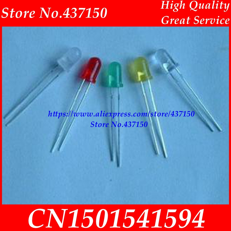3MM LED Diode more  Color Red Green Yellow Blue White orange  DIP diode(China)