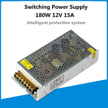 3 years warranty 180W 12V Switching Power Supply led driver AC 100-240V LED strip display security monitor Lighting transformer 100 240vac to 3 3vdc 198w 3 3v 60a ul listed power supply led screen monitor ultra slim driver lrs 350 3 3