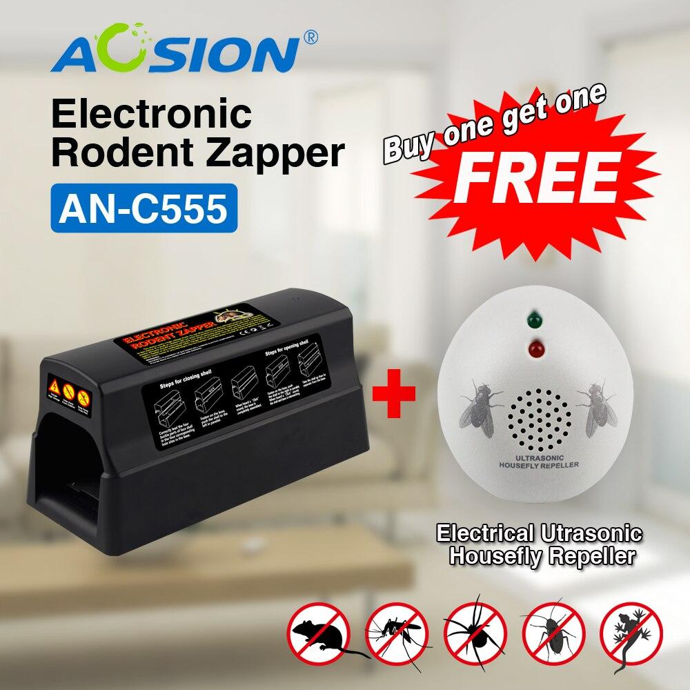 Acheter Aosion haute tension souris électronique souris rat rongeur piège tueur rat zapper (obtenu mouche répulsif gratuit)