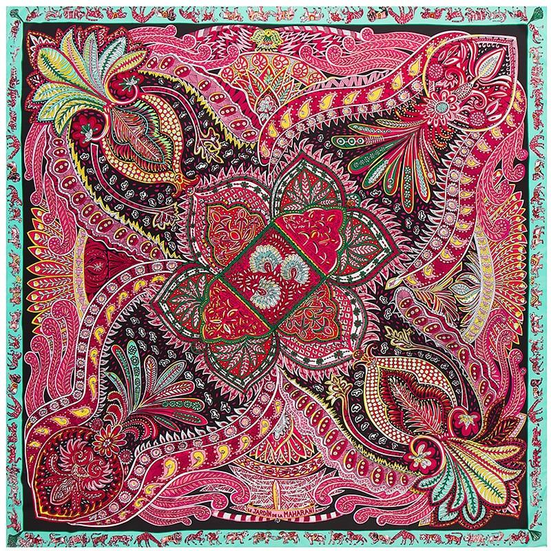 Fashion Women Scarf Luxury Brand Paisley Hijab Twill Silk Shawl Scarfs For Ladies Foulard Square Winter Scarves Wraps New Design