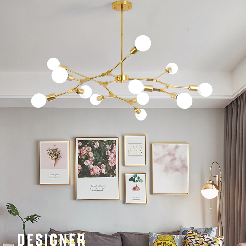 Modern LED Pendant Lights Nordic Art Restaurant Pendant Lamps 3/6/9 Light Dining-room Hanglamp Lamparas Home Decoration Lighting