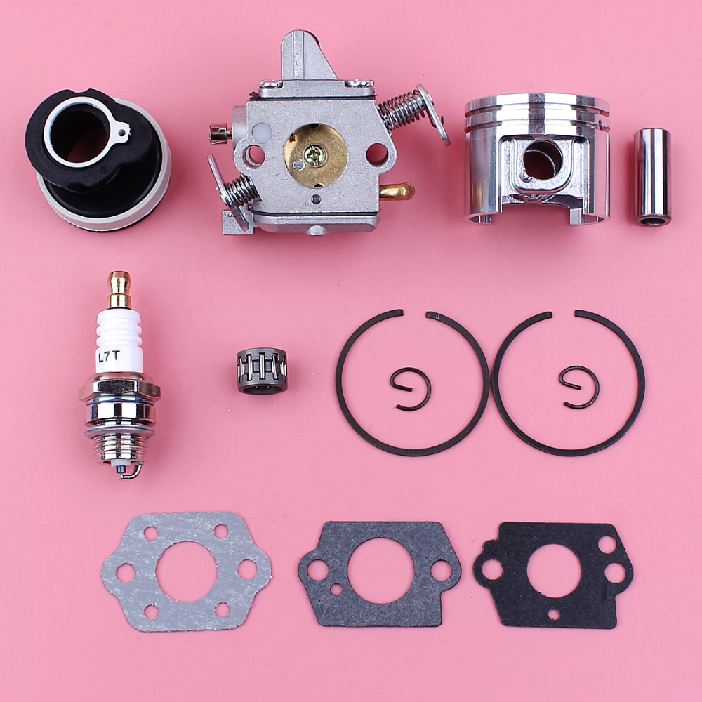 Carburetor 38mm Piston Intake Manifold Kit For Stihl MS180 018 MS 180 Chainsaw Replace Part 1130 120 0603