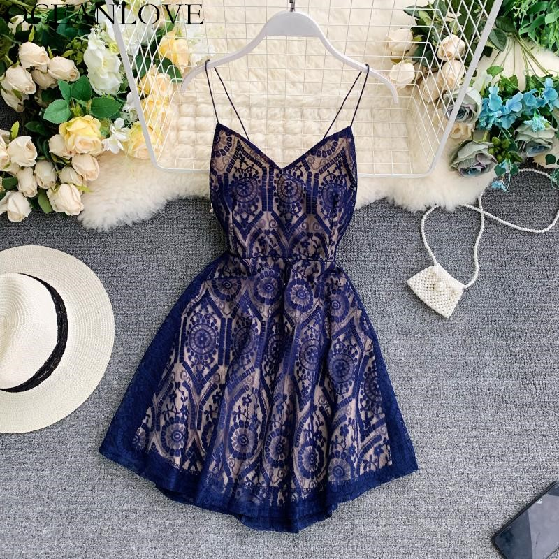 OCEANLOVE Party Dress Sexy V-neck Backless Vestidos Beach Style Robe Femme 2020 Summer Print Sleeveless Lady Mini Dresses 12194