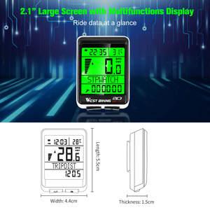 Image 5 - WEST BIKING Waterproof 5 Language Bicycle Computer Wireless Cycling Odometer MTB Bike Stopwatch Watch LED Screen Speedometer
