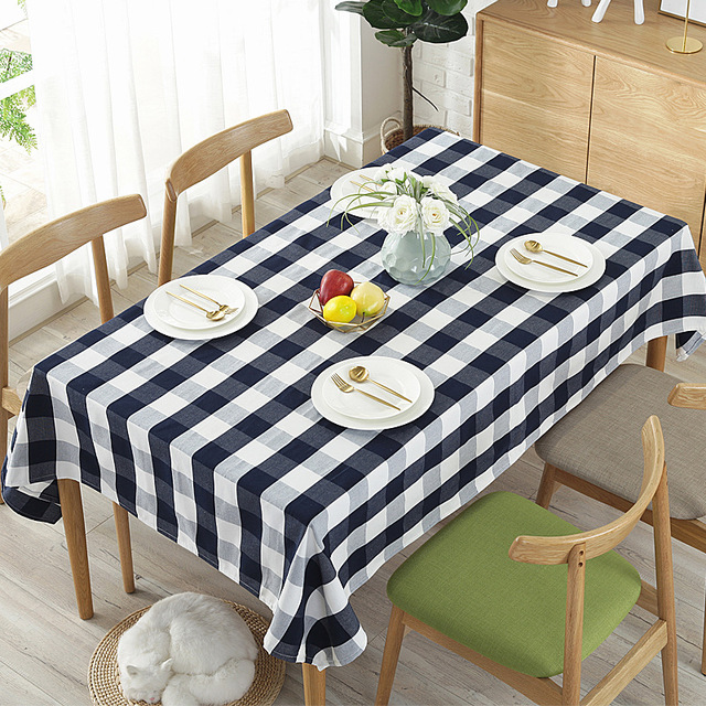 fabric cotton linen tablecloth living room household table