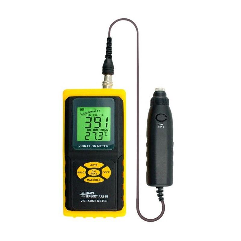 AR63B Smart Sensor Misuratore di Vibrazioni Digitale di Precisione Tester Analyzer Vibrometro Velocity Acceleration misura Dello Spostamento